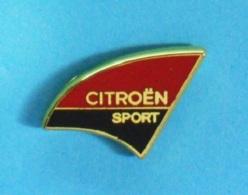 1 PIN'S //   ** LOGO / CITROËN SPORT ** . (Doré à L'OR Fin  Mega Promo) - Citroën