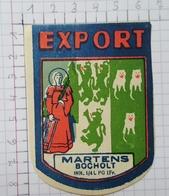 ETIQUETTE  BRASSERIE BROUWERIJ MARTENS BOCHOLT EXPORT - Beer