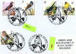 Thema Oiseau 2665-2653-2654-2457-2452 Sur Enveloppe 3 Cachets DIFFERENTS De Prévente (voir Scan & Descr) - Postmark Collection