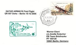 Erstflug - Qatar Airways - Doha / Qatar - Berlin / Tegel - 15.12.2005 [dt37] - Qatar