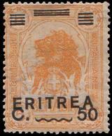 Scott 63   Somalia 50c On 5A Somalia Lion Overprinted Eritrea C. 50. Unused Hinged. - Erythrée