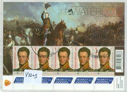 NEDERLAND * V.3309 * SLAG VAN WATERLOO * BLOK Van 10 * BLOC * BLOCK * NETHERLANDS * GEBRUIKT * POSTFRIS GESTEMPELD - 2013-... (Willem-Alexander)