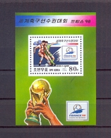 North Korea/DPR Korea 1998 - FIFA Football World Cup France 98 - S/Sheet - MNH** Excellent Quality - Corée Du Nord