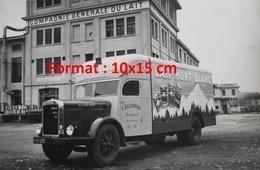 Reproduction D'une Photographie D'un Camion Pour Le Lait Mont Blanc Devant La Compagnie Générale Du Lait - Repro's