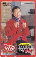 TC Japon / 110-011 - NESTLE MACKINTOSH - CHOCOLAT  KITKAT & Femme - CHOCOLATE & Girl Food Japan Phonecard - 6400 - Publicité