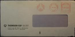 Belgium - Advertising Meter Franking Cover EMA 1984 Ixelles Elsene Logo Thomson B7918 - Franking Machines