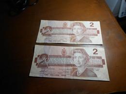 CANADA   1986  -   2    DOLLARS    BILLETS LOT - Canada