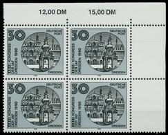 DDR 1990 Nr 3360 Postfrisch VIERERBLOCK ECKE-ORE X020882 - Ungebraucht