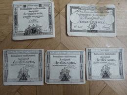 Assignats : 3 X 10 Sous 1792, 15 Sols 1793 Et 20 Sols 1792 - Assignats