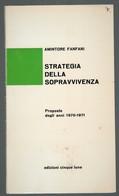 STRATEGIA DELLA SOPRAVVIVENZA Proposte - Gesellschaft Und Politik