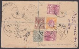 F-EX8702 MALAYA STRAITS SETTLEMENTS MALASIA REG COVER 1951 TO INDIA. - Malaysia (1964-...)
