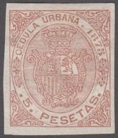 F-EX9234 PUERTO RICO SPAIN ESPAÑA REVENUE 1875 CEDULA URBANA IMPERFORATED PROOF. - United States