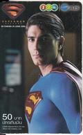 THAILAND - Superman Returns, 1 2 Call Prepaid Card 50 Baht, Exp.date 06/08, Used - Kino