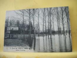 60 8115 RARE CPA - 60 CRUE DE L'OISE 4 MARS 1910. BORAN. LE CAROUGE - ANIMATION. - Boran-sur-Oise