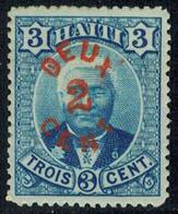 Scott 25   2c On 3c General Louis Etienne Felicite Salomon. Unused Hinged. - Haití