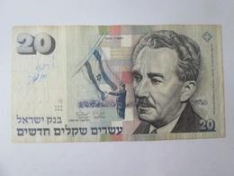 Israel 20 New Sheqalim 1993 Banknote - Israel