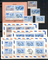 Ghana 1974 UPU Centenary + MS + 4x Sheetlet MUH - Ghana (1957-...)