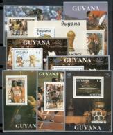 Guyana 1989 Olympic Winners 8x MS MUH - Guyana (1966-...)