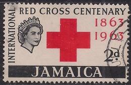 Jamaica 1963 QE2 2d Red Cross Centenary Used SG 203 ( L571 ) - Jamaica (...-1961)
