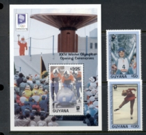Guyana 1993 Winter Olympics Lillehammer + MS MUH - Guyana (1966-...)