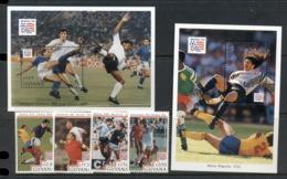 Guyana 1994 World Cup Soccer (4v.) + 2x MS MUH - Guyana (1966-...)