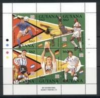 Guyana 1994 World Cup Soccer Sheetlet MUH - Guyana (1966-...)