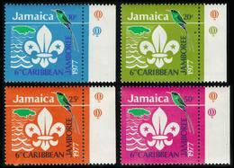 Scott 427-430   10c, 20c, 25c And 50c Scout Emblem, Doctor Bird And Outline Of Jamaica Caribbean Jamboree Hope Gar... - Jamaica (1962-...)