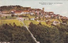 VARESE-SACRO MONTE CON FUNICOLARE-CARTOLINA VIAGGIATA IL 17-8-1946 - Varese