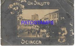 134266 ITALY SCIACCA SICILIA SQUARE OF THE PEOPLE BREAK POSTAL POSTCARD - Italia