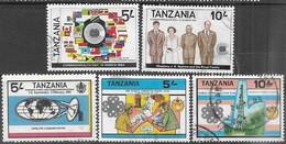 Tanzania  1983   Sc#219-20, 223, 231-2  Used  2016 Scott Value $6.05 - Tanzanie (1964-...)