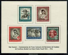 Scott 386a   30c Joseph A. Harrison, 40c President Somoza, 75c Explorer Scout, 85c Boy Scout And 1cor Lord Baden-P... - Nicaragua