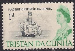 Tristan Da Cunha 1965 - 67 QE2 1d Flagship MM SG 72 ( J802 ) - Tristan Da Cunha