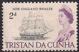 Tristan Da Cunha 1965 - 67 QE2 2d New England Whaler MM SG 74 ( J918 ) - Tristan Da Cunha