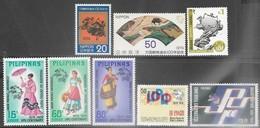 Asia Japan, Nepal, Philipines, Sri Lanka, Thailand  1974  5 Diff  UPU Sets  MNH  2016 Scott Value $6.80 - U.P.U.