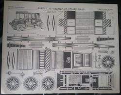 Imagerie Dé Epinal PELLERIN - Planche à Découper - Landau Automobile De Voyage - - Radio & TSF