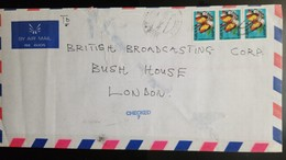 O) 1995 CIRCA - GHANA, BUTTERFLIES - CYMOTHOE BECKERI, CHECKED ON ARRIVAL FOR ANTHRAX, TO LONDON - Ghana (1957-...)