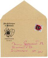 SEINE ET MARNE ENV 1950 (MCML) ILLUSTREE FETES FOLKLORIQUES PROVINS DATEE EN ROMAINS TARIF ENV IMPRIME OUVERTE - Marcophilie (Lettres)