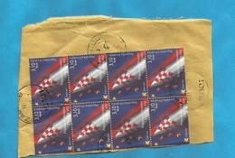 1 - CRO KROATIEN  EUROPA FLAGEN BANDIERA    USED - Sellos