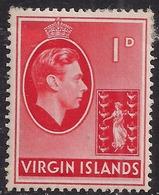 British Virgin Islands 1938 - 47 KGV1 1d Red MM SG 111a ( E917 ) - British Virgin Islands