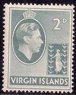 British Virgin Islands 1938 - 47 KGV1 2d Grey MM SG 113a ( E775 ) - British Virgin Islands