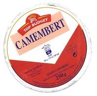 FROMAGE - CAMEMBERT TOP BUDGET - LAITA BREST, BOUVRON - ETIQUETTE PEU COMMUNE VOIR DETAIL - Cheese