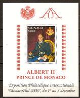 """(Fb).Monaco.2006.""""Monacophil 2006"""".Foglietto Nuovo,gomma Integra (90-20) - Blocchi"""