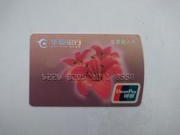 China, Flower, (1pcs) - Cartes De Crédit (expiration Min. 10 Ans)