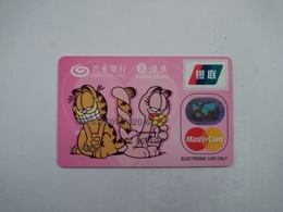 China, Garfield , (1pcs) - Cartes De Crédit (expiration Min. 10 Ans)