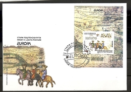 MACEDONIA NORTH 2020 ,EUROPA  CEPT- ANCIENT POSTAL ROUTES,BLOCK,FDC - Europa-CEPT