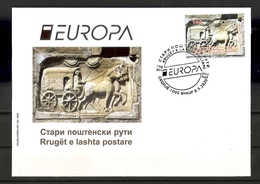 MACEDONIA NORTH 2020 ,EUROPA  CEPT- ANCIENT POSTAL ROUTES,,FDC - Europa-CEPT