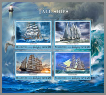 MALDIVES 2020 MNH Lighthouse Leuchtturm Phares Tall Ships M/S - OFFICIAL ISSUE - DH2017 - Faros