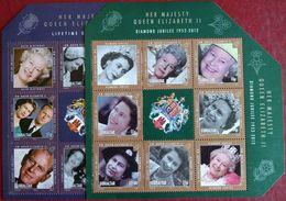 122. GIBRALTAR 2012 SET/2 STAMP S/S QUEEN ELIZABETH II, PRINCE PHILLIPS. MNH - Gibraltar