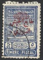 Republique Syrienne, 5 P.S. Piastres , OVERPRINT , Citadel , Syria Syrie Syrien , Revenue Fiscaux Fiscal - Siria