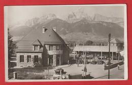 CPA PHOTO 38 CORPS La Nouvelle Gare Ligne De La Mure ; La Chaine De L'Obiou  . Automobile - Corps